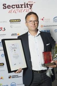Gardio vinnare av branschpriset Årets Säkerhetsrookie Security Awards 2013
