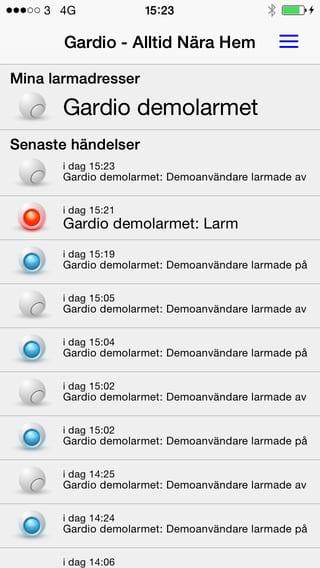 Gardio iPhone app
