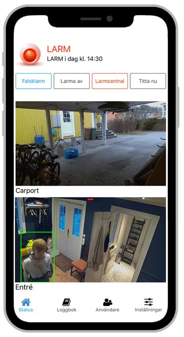 Ny iPhone-app till ditt Gardiolarm